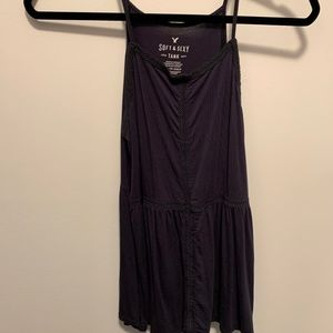 American Eagle Navy/Blue Soft & Sexy Tank Top
